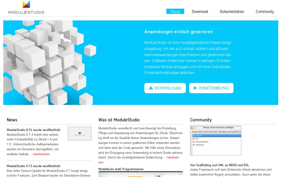 ModuleStudio-Releaseplan und Website-Design